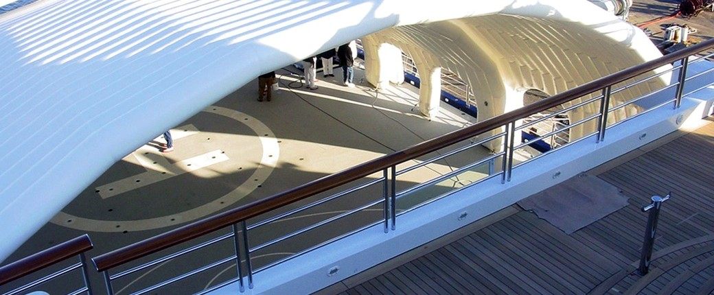 Inflatable Roof for Yacht