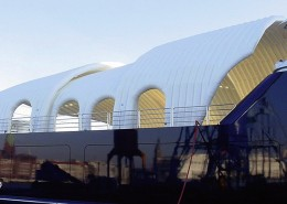 Inflatable Roof for Yacht Side View