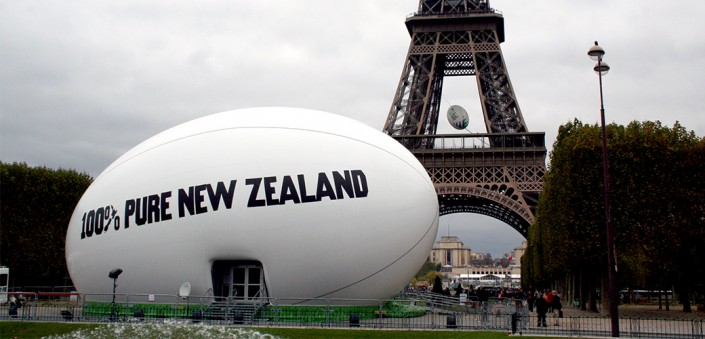 Rugby World Cup Inflatable Trade Stand